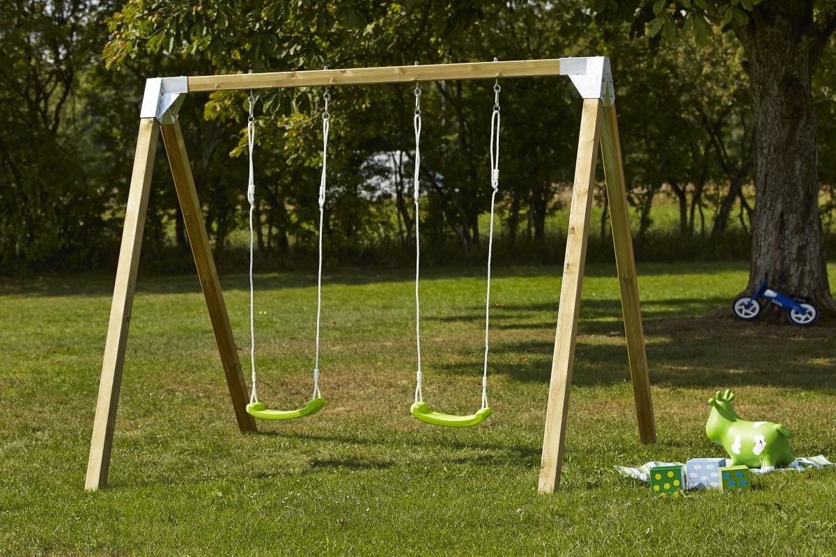Si ge balan oire enfant vert avec cordes max 70kg pour portique - Balancoire pour enfant ...