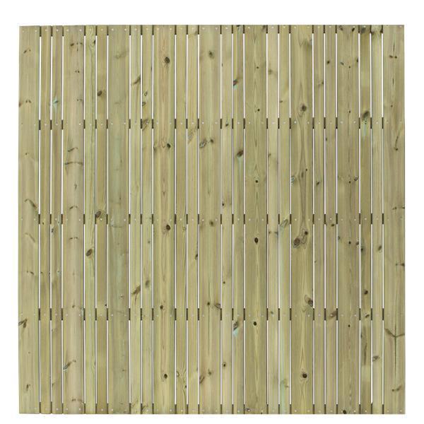 design b vertical brise vue 177x177cm avec lames bois autoclave. Black Bedroom Furniture Sets. Home Design Ideas