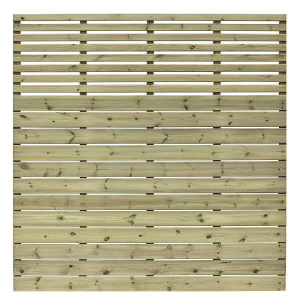 design a horizontal brise vue 177x177cm avec lames bois. Black Bedroom Furniture Sets. Home Design Ideas