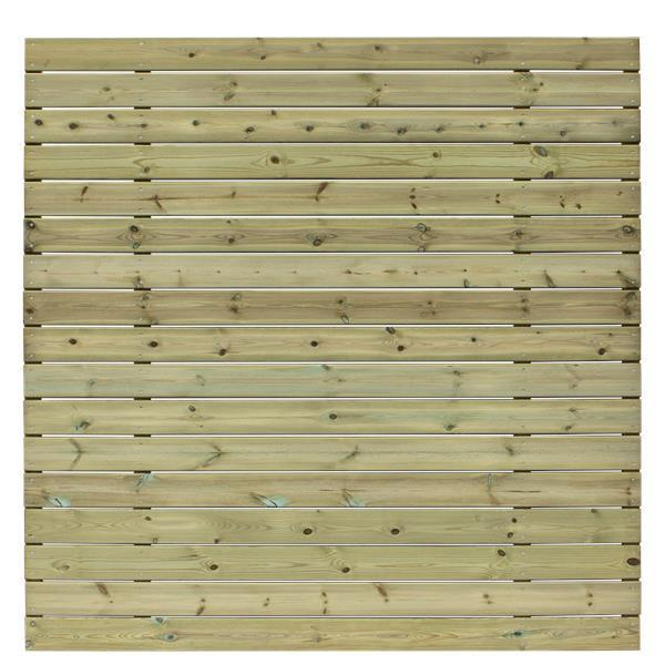 BASIC B Horizontal Or Vertical Garden Fence 177x177cm With Large Boards ...