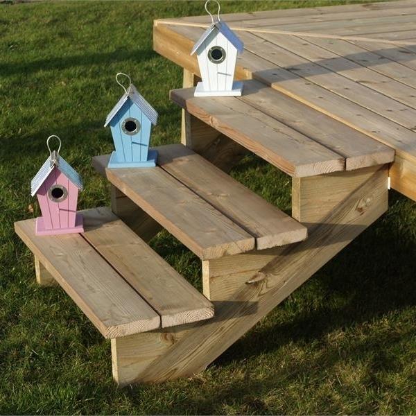 limon 4 marches pour escalier de jardin en bois autoclave. Black Bedroom Furniture Sets. Home Design Ideas