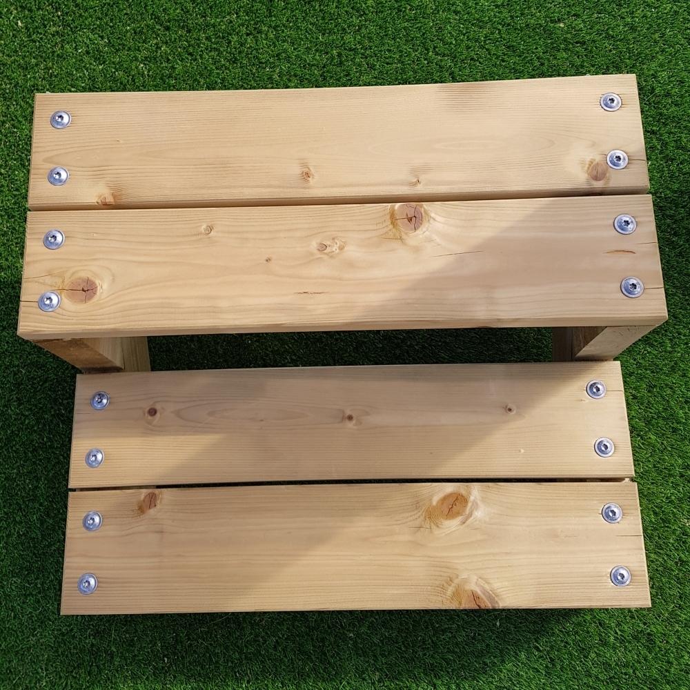 pack escalier 6 marches en largeur 60cm en bois autoclave pour le jardin. Black Bedroom Furniture Sets. Home Design Ideas