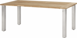 casa table de jardin en teck recycl de haute qualit. Black Bedroom Furniture Sets. Home Design Ideas