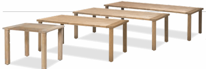 Casa table de jardin en teck recycl de haute qualit for Table de jardin en teck