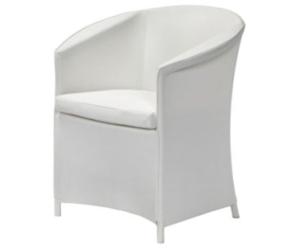 fauteuil de jardin design blanc. Black Bedroom Furniture Sets. Home Design Ideas