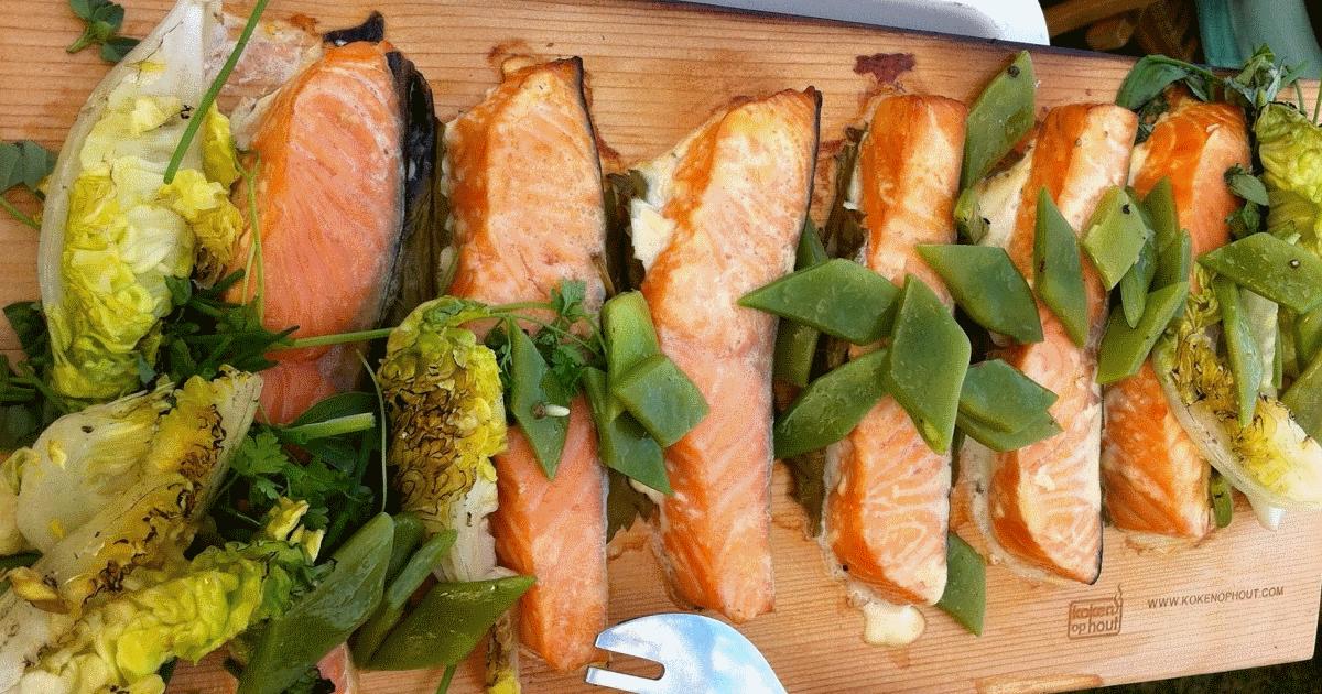 Saumon a la planche de cedre