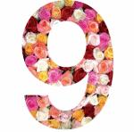 Roses sticker chiffre pour la maison poubelle boite aux lettres - Stickers poubelle exterieur ...