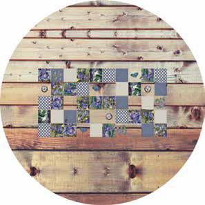 nappe table jardin en toile cir e anti tache. Black Bedroom Furniture Sets. Home Design Ideas