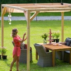 pergola tonnelle veranda ou glori tte en bois exotique. Black Bedroom Furniture Sets. Home Design Ideas