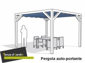 Kit pergola en pose libre