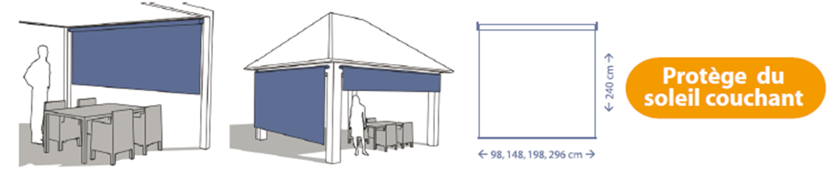 Favorit Voiles d'ombrage, stores bateaux et stores enrouleurs verticaux XG55