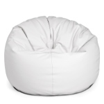 Outbag similicuire Light White pouf poire design coté pîscine