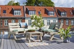 Salon de jardin en palette tenue d 39 jardin - Salon de jardin avec palettes ...