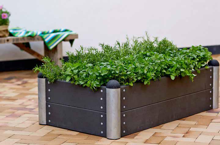 Jardinières, bordures et potager design rectangulaire