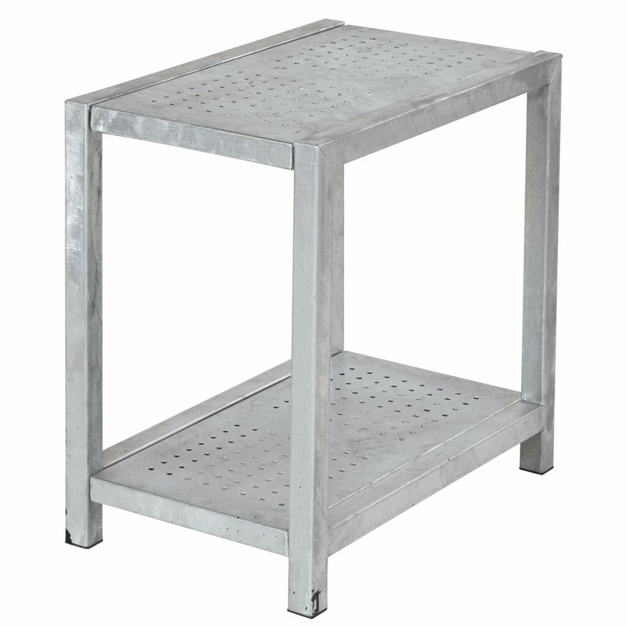 Table d 39 appoint pour l 39 ext rieur en m tal galvanis 49 x 77 x 72 cm - Table d appoint malm ...