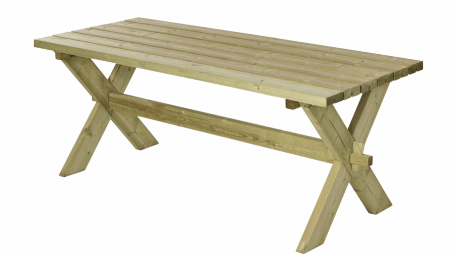 nostalgie table de jardin pique nique en bois 177x75x72cm. Black Bedroom Furniture Sets. Home Design Ideas