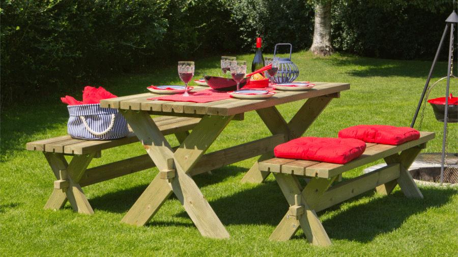 Nostalgie garden table 177cm impregnated northern pine wood