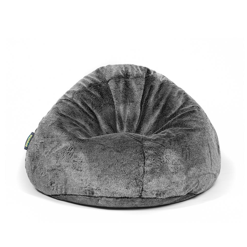 pushbag bag500 pouf poire geant fourrure noir edition limitee. Black Bedroom Furniture Sets. Home Design Ideas