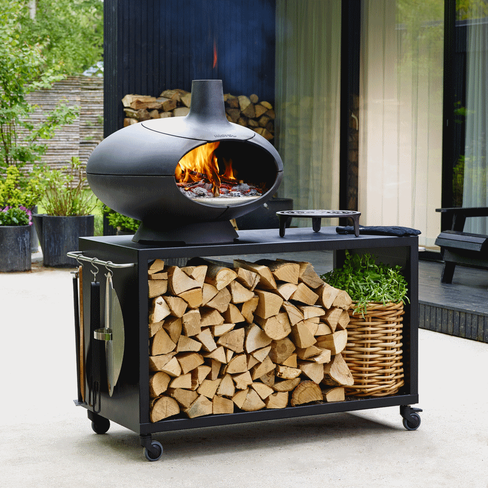 Four À Pizza Extérieur morsø forno garden - outdoor pizza, grill and wood oven with table 120cm