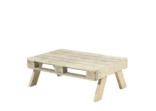 Grand table basse de jardin en palette 125,5 x 80 x 45 cm