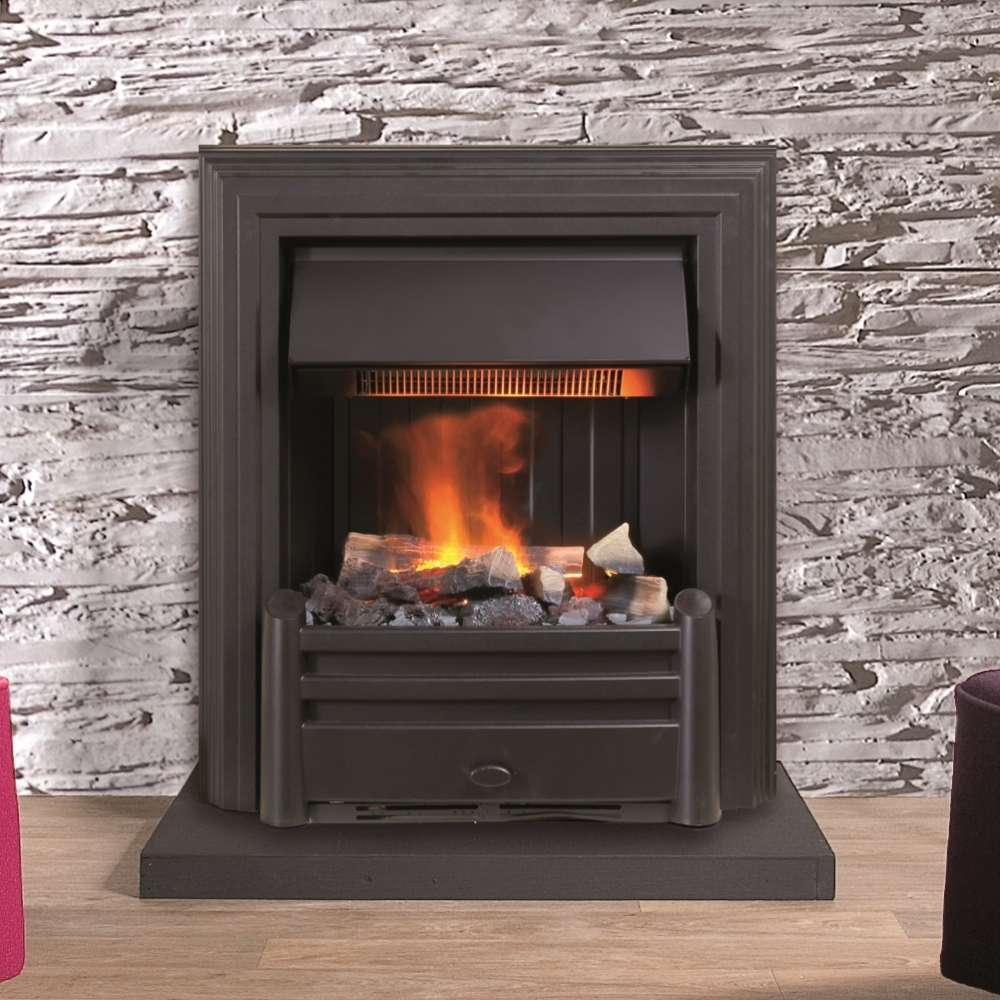 Opti Myst Hemmet Black Electric Insert Fire With 3d Flame Effect