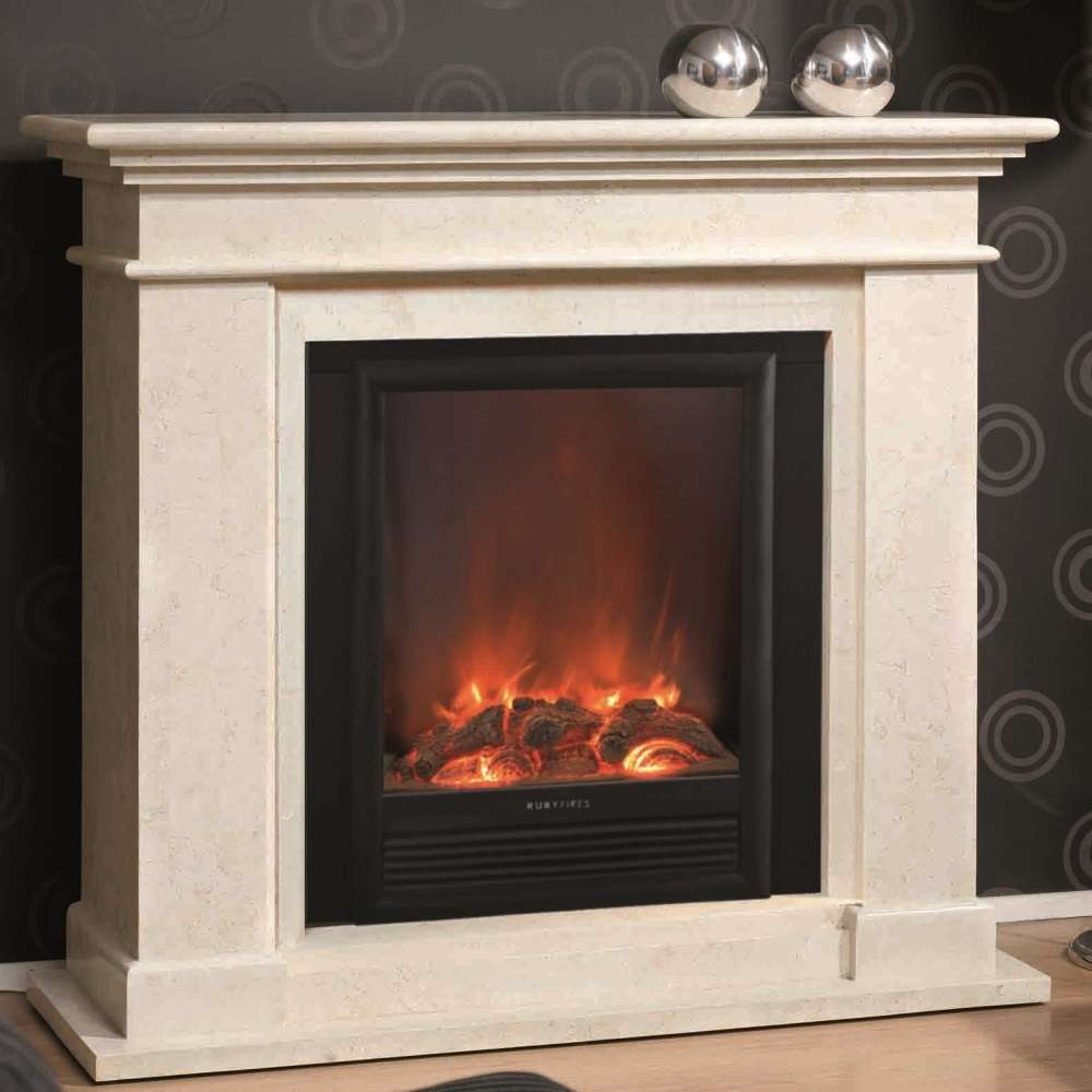 Kos Fossil Stone Fireplace For Electric Or Bio Ethanol Inserts