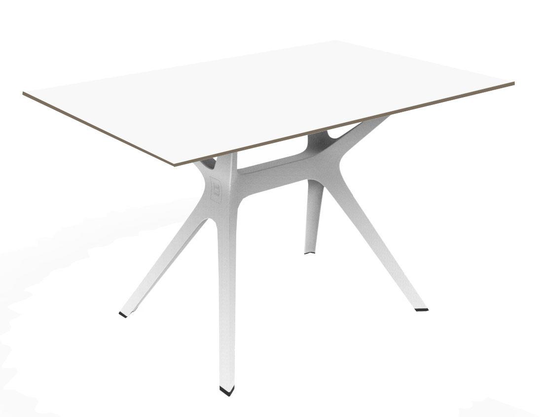 Vela M table de jardin avec plateau ovale 150x120cm en verre trempé ...