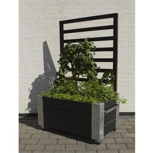 Cubic jardini res et bacs plantes design sur roulettes - Jardiniere treillis ...