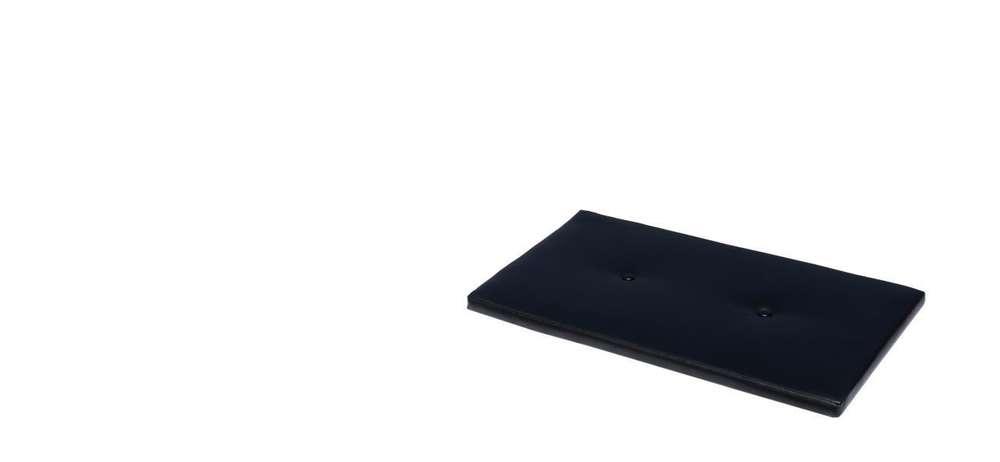 Coussin En Similicuir Noir Pour Banc 79x48cm