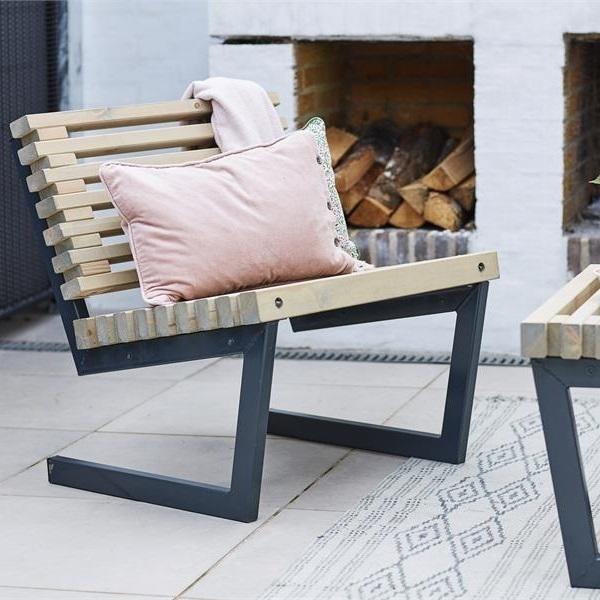Siesta 80 cm fauteuil à lattes de jardin-lounge design avec ...
