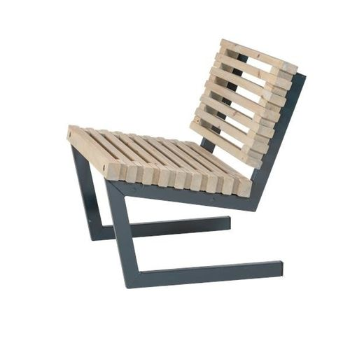 Siesta 80 cm design lounge chair outdoor-indoor - painted driftwood color