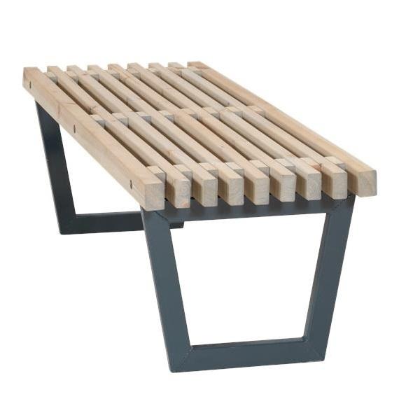 Siesta 140 cm design bench or low garden table outdoor-indoor - painted  driftwood color ... - Siesta 140 Cm Design Bench Or Low Garden Table Outdoor-indoor