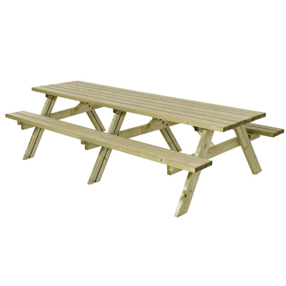 Table pique-nique 9 cm XXL en bois autoclave classe 9