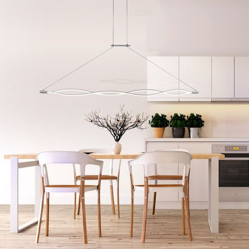 Mantra Sahara - Lustre suspendu design 137cm LED - argenté/chrome