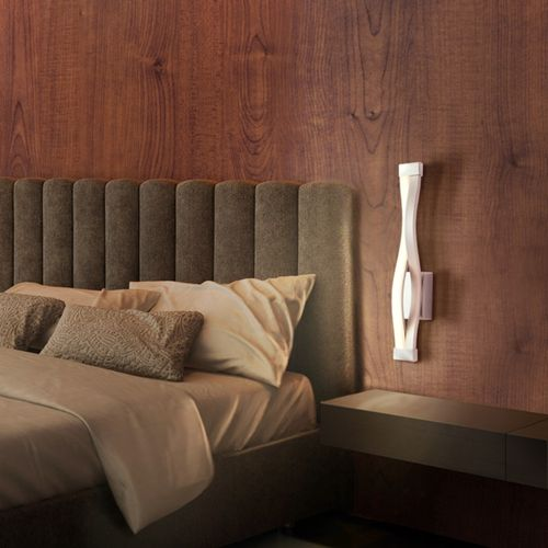 Mantra Sahara - Applique design LED compatible variateur - argenté/chrome