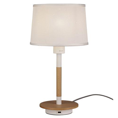 mantra nordica tafellamp usb wit hout met lampenkap