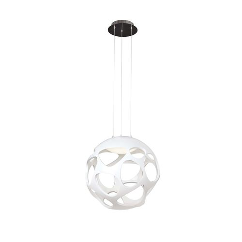 Mantra ORGANICA - Lustre-suspension grand modèle Ø55cm - blanc