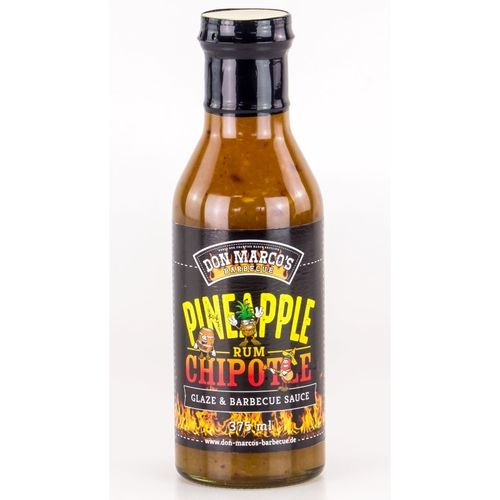 Sauce barbecue Ananas, poivre Chipotle et Rhum - 375ml  - Don Marco