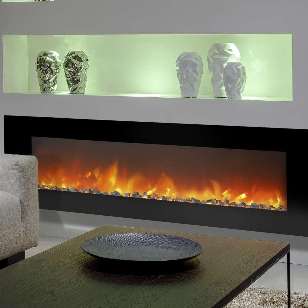 Ruby Fires Trivero 180 Cheminee Murale Electrique Vitre