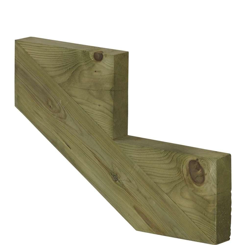 Limon 2 marches pour escalier de jardin bois autoclave classe 4