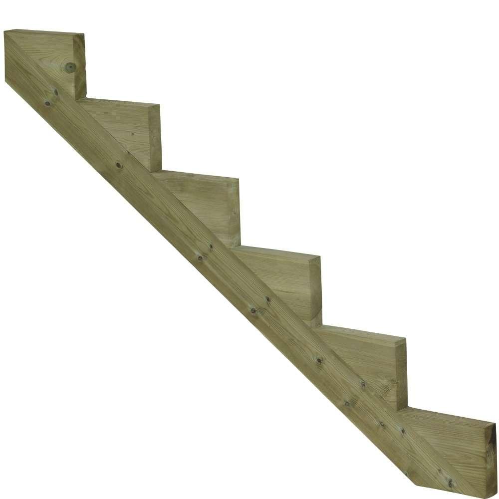 Limon 6 marches pour escalier de jardin en bois autoclave ...