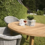Table de jardin en teck - table ronde