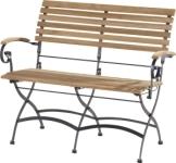 Chaise de table de jardin Bellini en fer forgé noir