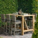 Table de jardin en teck - table bar rooftop