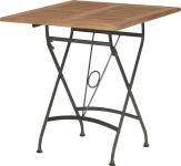 Table de jardin Darwin: rectangulaire en fer forgé noire pliable