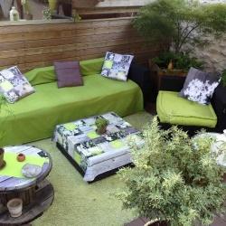 coussin dcoratif exterieur deco jardin trompe lil