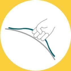 VEEL by VLUV by Hock design gripME: Poignée brevetée qui vous permet de déplacer facilement le siege ballon et de la maintenir lorsque vous vous asseyez.