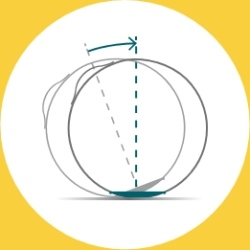 VEEL by VLUV by Hock design unROLL: l'anneau sur le bas de le siege ballon empêche le roulage et ainsi le reste de le ballon reste propre car il n'entre pas en contact avec le sol